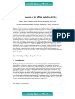 Performance of an office building in fire