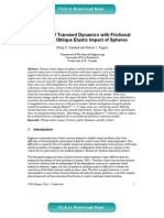 A Study of Transient Dynamics with Frictional Contact