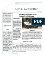 ELC Newsletter - Spring II 2011 - Advanced II