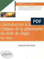 Ebooksclub.org L 039 Introduction La Critique de La Phi Lo Sophie Du Droit de Hegel Karl Marx