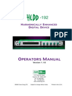 Hedd 192 Manual