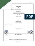 Project Report Format Mini Project Lab