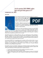 Norma ISO 50001, Energia Sustentable