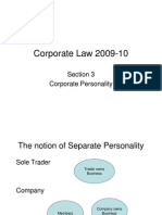 Lecture 3 [Slides] - Corporate Personality - 29 October 2009