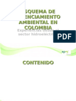 Esquema de Licenciamiento Ambiental en Colombia