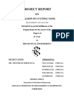 Project Report on Vibration in Cutting Tool(Measurement and Analysis)