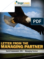 Letter From The Managing Partner  - June 2010