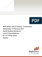 BHP Biliton - Transcript Feb2010
