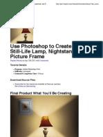 Ps Tutorial Lampe Mit Lichtschein Detailliert