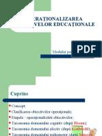 1. Operationalizarea obiectivelor