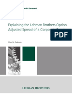 Lehman Brothers Pedersen Explaining the Lehman Brothers Option Adjusted Spread of a Corporate Bond