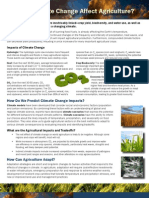 Climate Change One Pager