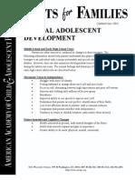 Normal Adolescent Development