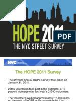 2011 NYC Street Homelessness Survey