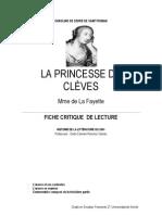 Fiche de lecture, La princesse de clèves- Mme de Lafayette