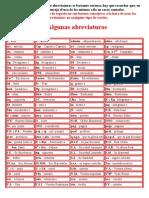 Algunas abrevaturas en español