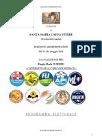 Programma Elettorale 2011 - elezioni amministrative ,S.maria C.V.