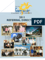 Sunrise Chamber Of Commerce Membership Directory 2011