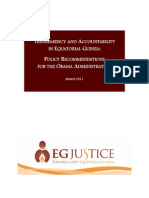 Obama Equatorial Guinea Policy Paper for Oil March 2011