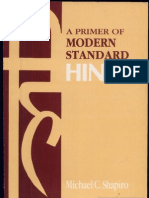 A Primer of Modern Standard Hindi Escrito Por Michael C. Shapiro
