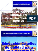18-10-07 00 Presentacion Aparecida Cbba Com Episc Educacion p Corona Oct 2007