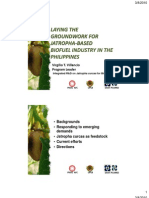 Laying the groundwork for Jatropha-based biofuel industry in the Philippines