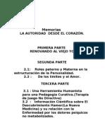 AUTORIDAD DESDE EL CORAZÓN Memorias COE Medllín.