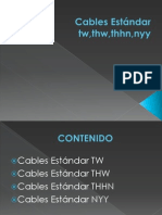 Cables Estándar tw,thw,thhn,nyy