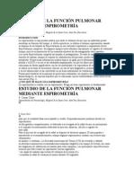 ESTUDIO DE LA FUNCIÓN PULMONAR