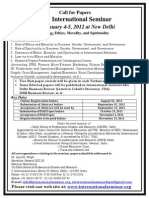 Seminar Call for Papers