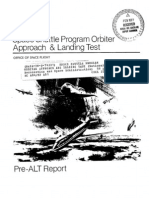 Space Shuttle Program Orbiter Approach and Landing Test Pre-ALT Report