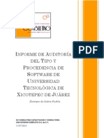 Informe Final de Auditoria de La Universidad