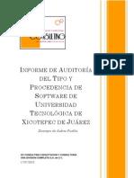 Informe Final de Auditoria de La Universidad