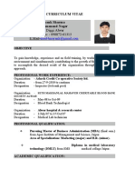 Curriculum Vitae for Marketing