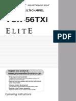 Vsx-56txi Operating Instructions