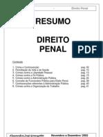 Resumao de Direito Penal - Alexandre Jos Granjotto