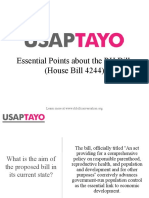 Essential Points of the RH Bill