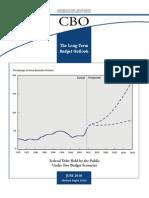 CBO Long Term Budget Outlook