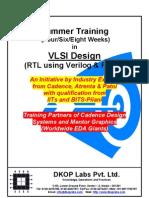 Summer Training in VLSIDesign - 2011
