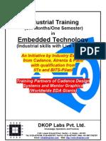 Industrial Training in Embedded - 2011
