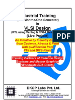 Industrial Training in VLSI Design - 2011
