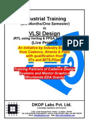 Industrial Training In Vlsi Design 2011 Field Programmable Gate Array Hardware Description Language