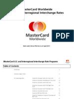 Master Card Interchange Rates and Criteria