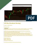 4H Box Breakout Strategy
