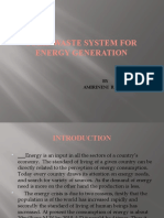Solid Waste System for Energy Generation