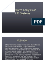 Transform Analysis of LTI Systems