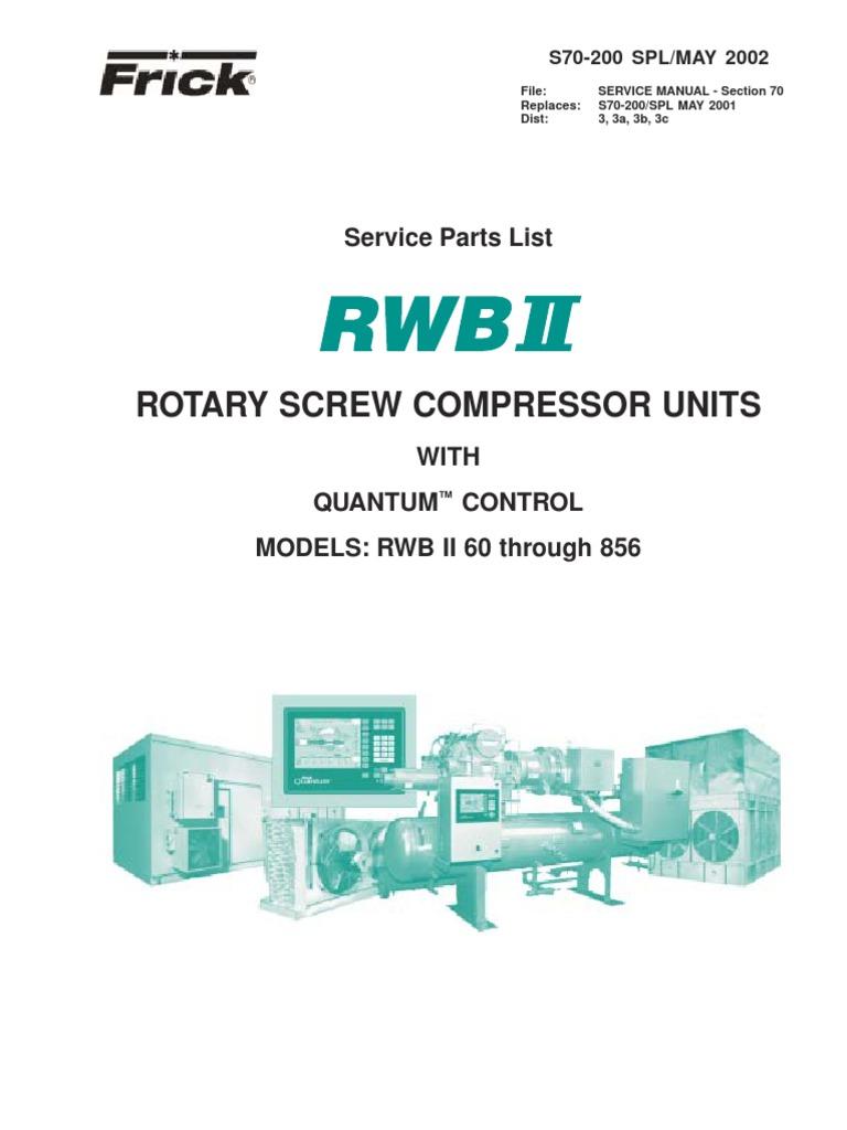 tdsh283 asac002frickrwbcompressorparts rh scribd com Frick Compressor Parts Manual Screw Frick Compressor Tdsh233l2860