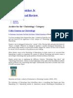Christology-David B Hunsicker Jr