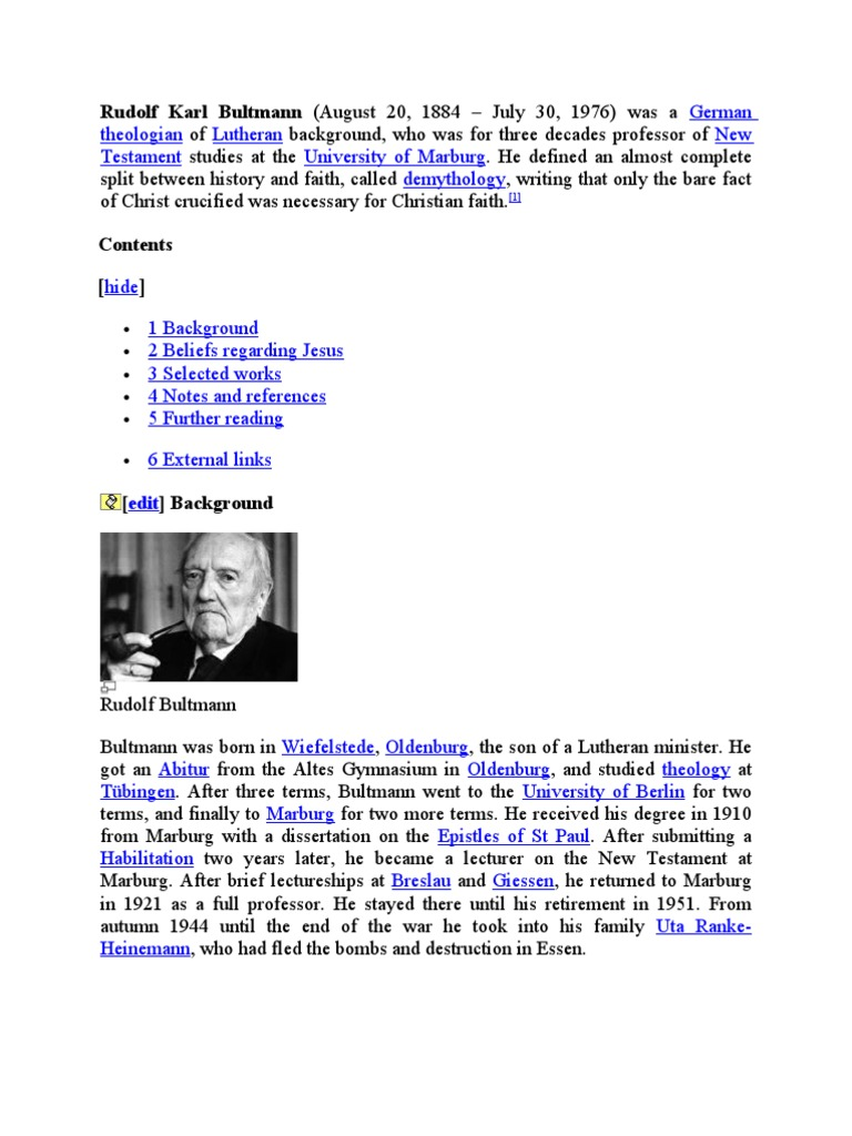 Bultmann The History Of The Synoptic Tradition Pdf
