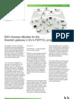 ESV chooses eBuilder for the Swedish gateway in EU's PEPPOL project